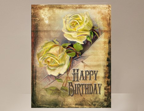 Yellow Rose Birthday Card Yesterday S Best