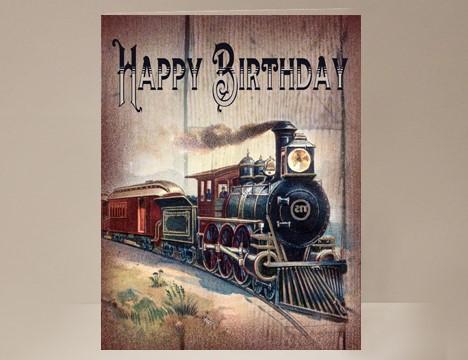 Train birthday card yesterdays best bookmarktalkfo Image collections