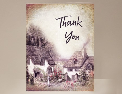 Thank You card cottage |  Yesterday's Best