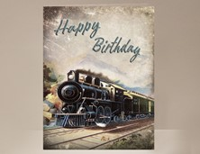 View Train Birthday Card