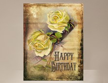View Yellow Rose Birthday Card