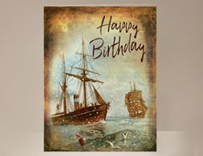 View Sailing Ship Birthday Card
