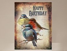 View Bird Birthday Card
