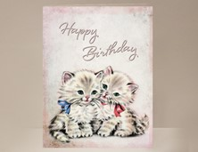View Kitten Birthday Card