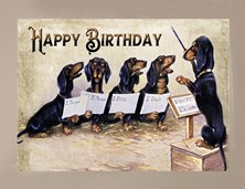 View Dog Dachshund Birthday Card