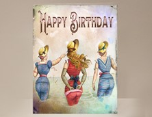 View Beach Ladies Birthday Card