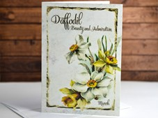 View Flower of the month Card Daffodil March