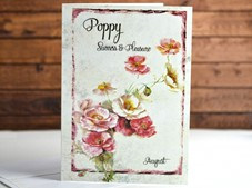 View Flower of the month Card Poppy August