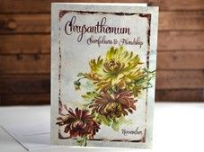 View Flower of the month Chrysanthemum November