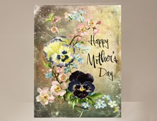 View Pansy Floral Mother's Day Card