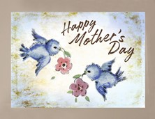 View Mother's Day Blue Bird Card