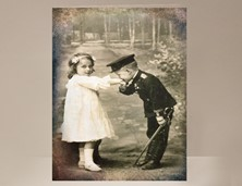 View Young Love Vintage Valentine Card
