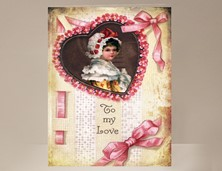 View Ribbons and Lace Valentine Card