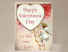 View Happy Valentines Day Card with Cupid