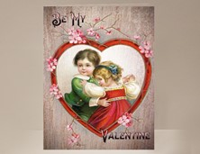 View Boy and Girl Valentine Card