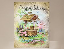 View Congratulations Card with Wishing Well