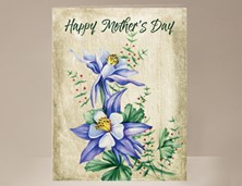 View Mother's Day Card Purple Flowers